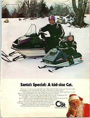 Arctic Cat Snowmobile Santa Claus Special Kid-Size Sled 1972 Vintage Print Ad