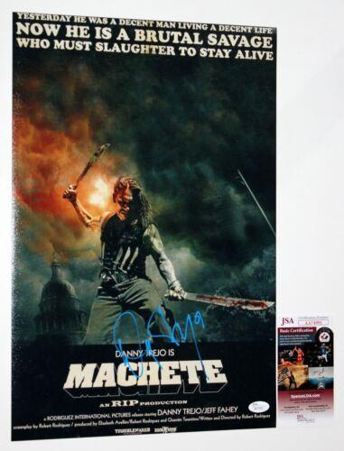 DANNY TREJO SIGNED 12x18 MACHETE MOVIE PHOTO POSTER KILLS AUTOGRAPHED +JSA COA