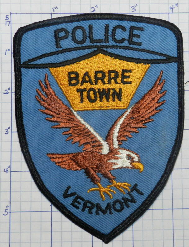 VERMONT, BARRE TOWN POLICE DEPT LIGHT BLUE PATCH