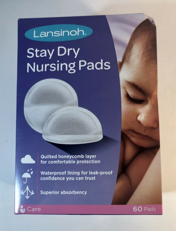 Lansinoh Stay Dry Disposable Nursing Pads For Breast-Feeding, 60 Count