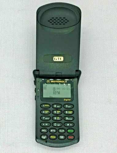 COLLECTIBLE Black MOTOROLA StarTAC Semi Clam Shell Cell Phone ST7760 VGC TESTED