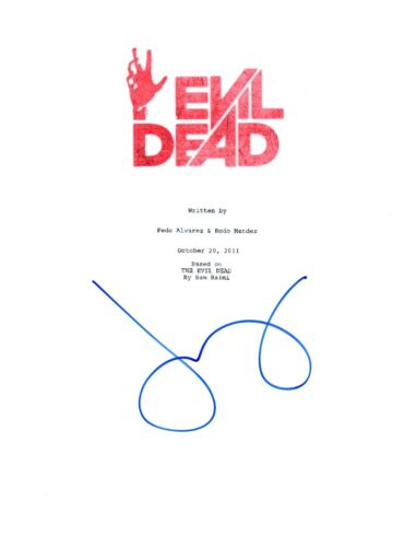 Jane Levy Signed Autographed EVIL DEAD 2013 Movie Script Screenplay COA