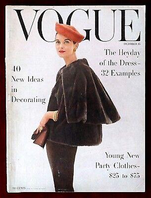 Vogue Magazine ~ October 15, 1955 ~ Anne Ste Marie Rutledge Karen Radkai