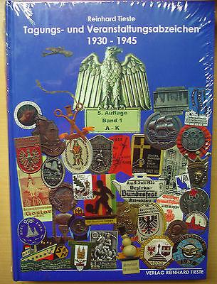 Katalog der Tagungs und Veranstaltungsabzeichen 1930-45 Anstecker Abzeichen Buch