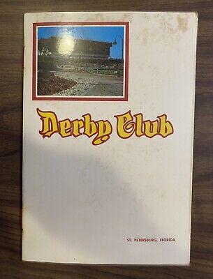 Vintage Florida Derby Lane Menu St. Petersburg Greyhound Race Track Restaurant