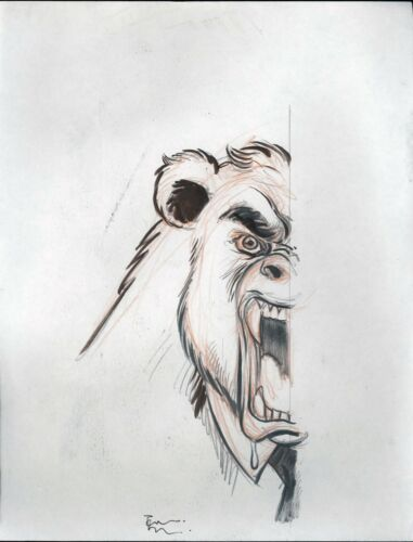 Signed Original Concept Art & Script ADVENTURES OF JIMMY HALPERT Tone Rodriguez