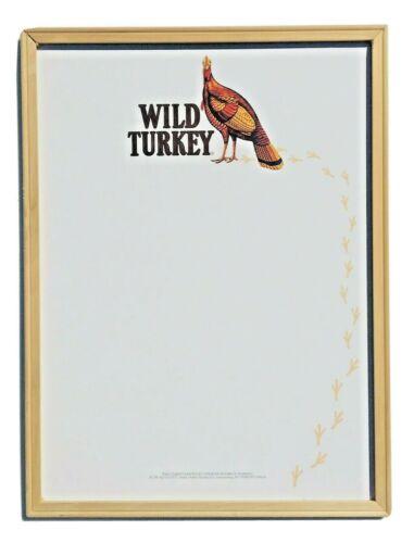 Wild Turkey Bourbon Whiskey White Board Sign Kentucky 1998 Bar Vintage