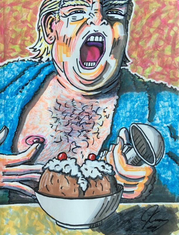 Jim Carrey Trump Signed Painting limited edition of 200 **MOST FAMOUS PAINTING**