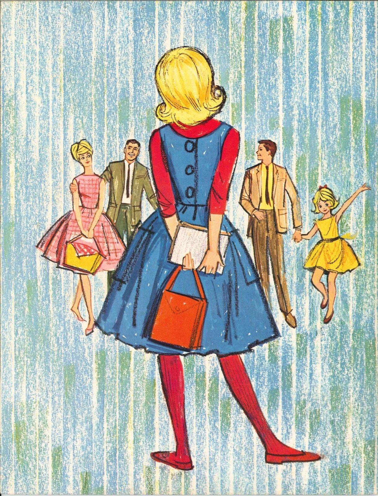 VINTAGE UNCUT ORIGINAL SIZE 1963 BRUNETTE BARBIE PAPER DOLLS~#1 REPRO~NOSTALGIC!