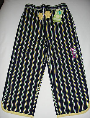 Gymboree Sporting Green Navy Blue Stripe Pants 3 3t Vintage Spring