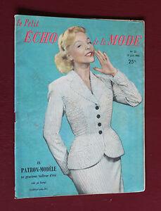 Juin-1955-L-039-echo-de-la-mode-N-25-Hebdomadaire-feminin-vintage-couture-retro