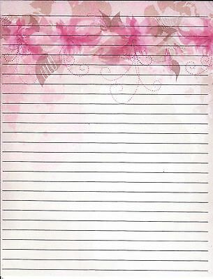 """Fine Lined Stationery 8 1/2"""" by 11"""", with 25 sheets and 10 envelopes"""