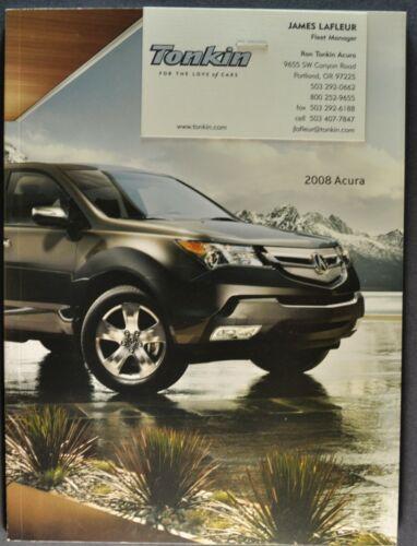 2008 Acura 36pg Catalog Sales Brochure RL TL TSX MDX RDX Nice Original 08