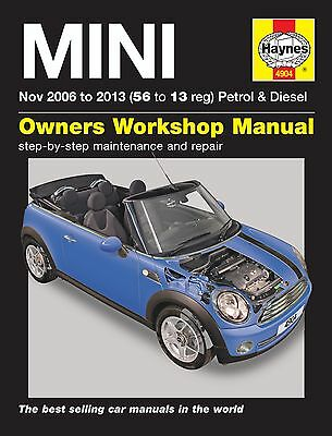 Haynes Manual BMW Mini 2006 - 2013 Car Workshop Repair Book Maintenance 4904 New