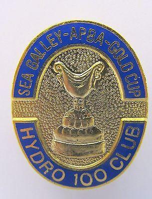scarce 1981 SEAFAIR GOLD CUP HYDRO 100 enameled hydro hydroplane racing pin
