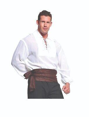 Herren-halloween-kostüm Seemann (Underwraps Piraten Hemd Weiß Seemanns Spitze Erwachsene Herren Halloween Kostüm)