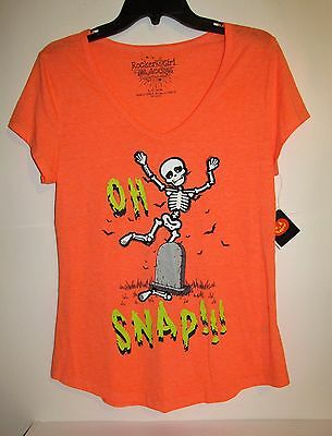Halloween Max Steel (Juniors Halloween Vneck Scoop Tee (Size Lg 11-13) BRAND NEW W)