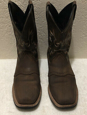 "Men's Double H 11"" Steel Toe Western Work Boot DH4658 Size 10 1/2D"