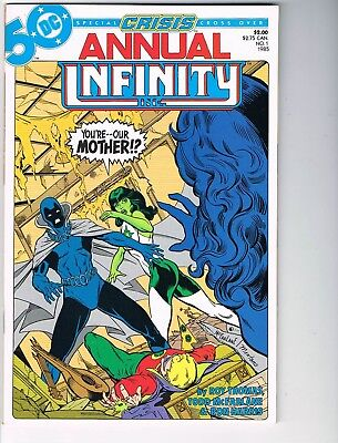 Infinity Inc Annual  # 1  VF-  7.5  Crisis Crossover