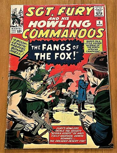 SGT FURY & HOWLING COMMANDOS #6   SILVER AGE 1964   STAN LEE / JACK KIRBY