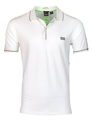 Hugo Boss Men's Paule Moisture Manager Slim Fit Polo Shirt - White Hugo Boss Moisturizing Moisturizer