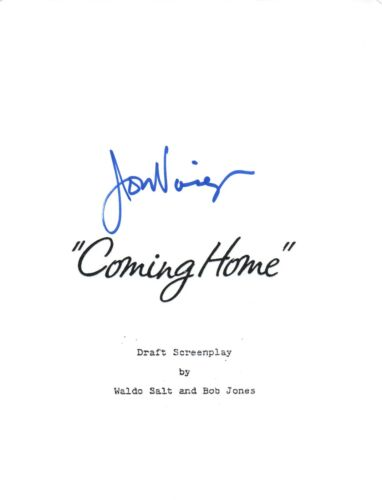 Jon Voight Signed Autographed COMING HOME Movie Script Screenplay COA