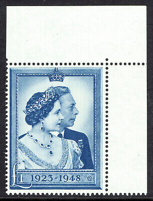 🌟 GB KGVI SG494 - £1 BLUE - 1948 SILVER WEDDING - MNH UNMOUNTED MINT - Sc #268