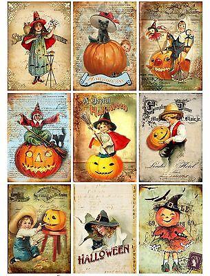 9 Halloween Spooktacular ATC Cards Hang Tags Scrapbooking Paper Crafts (109) (Halloween Atcs)