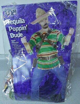 Tequila Dude Halloween Costume (Mens Fun World Bottom's Up Tequila Poppin' Dude Halloween Costume One Size)