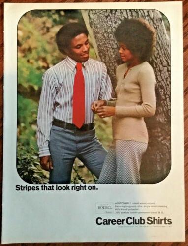 Career club shirts ad 1971 original vintage print 1970s retro fashion art photo