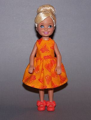 Handmade Chelsea Doll Clothes Butterfly Print Dress & Fits 5 1/2