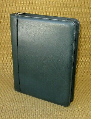 Classic 1.5 Rings Green Leather Franklin Coveyquest Zip Plannerbinder Usa