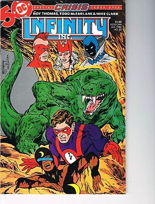 Infinity Inc  # 22  VF+ 8.5  Crisis Crossover