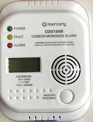 New MerCury Carbon Monoxide Alarm/Detector-COD100B-CO Digital Display 7Year Life
