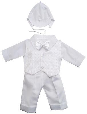 Taufanzug Festanzug Babyanzug Anzug Junge Baby Taufe SET weiß