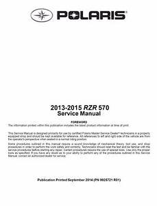 polaris ranger service manual ebay rh ebay com 2014 polaris sportsman 570 service manual 2013 polaris ranger 570 manual