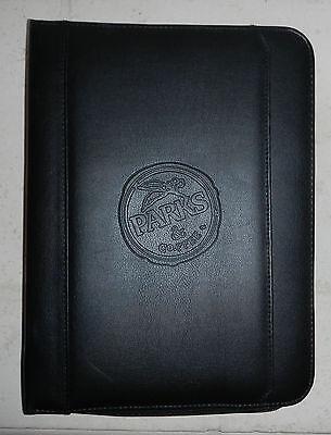 Parks Coffee Company Logo Leeds Leather Zippered Padfolio Notebook Binder