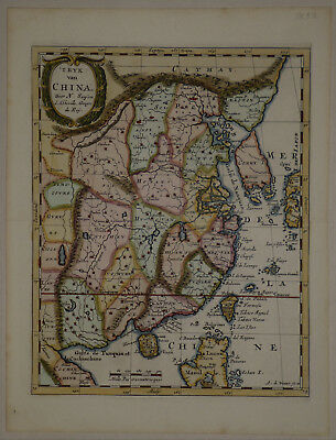 1705 Genuine Antique map hand colored China, Island of Korea. N. Sanson