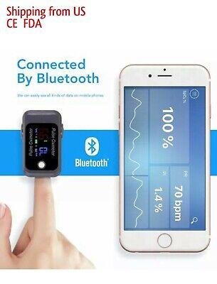 Blood Oxygen Monitor Pulse Oximeter Fingertip Bluetooth Spo2 Pr Pi Fda Ce