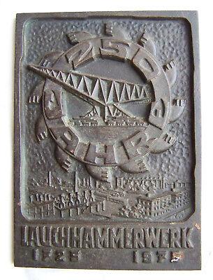 DDR Plakette Gußeisen 250 Jahre Lauchhammerwerk