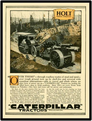 "1918 Caterpillar Holt Tractor 9"" x 12"" Ne Metal Sign: World War One Theme"