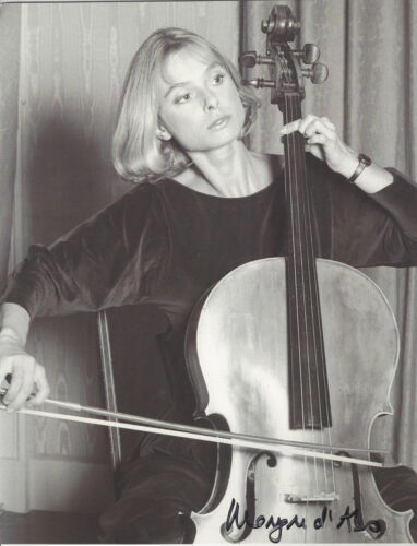James Bond Living Daylights Maryam D'Abo autographed 8x10 photo Playing cello
