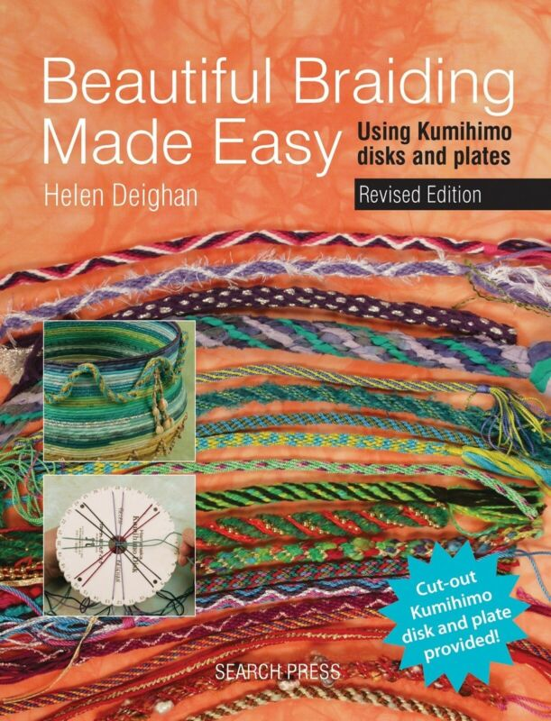Braid Pattern Book Beautiful BRAIDING Made EASY w/ Cut Out KUMIHIMO Disk & Plate