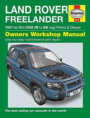 5571 Haynes Land Rover Freelander (1997 - Oct 2006) R to 56 Workshop Manual