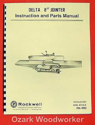 Delta-rockwell 8 Jointer Instructions Parts Manual 0248
