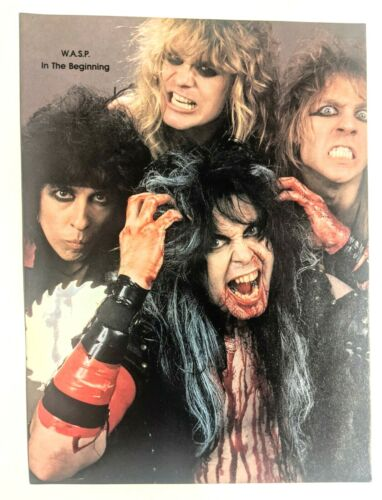 W.A.S.P. / BLACKIE LAWLESS / BAND MAGAZINE FULL PAGE PINUP POSTER CLIPPING (4)