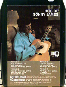 SONNY-JAMES-Hits-Of-Sonny-James-8-TRACK-TAPE-CARTRIDGE