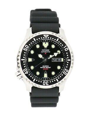 Citizen Men's Promaster Automatic Calendar Black Strap 42mm Watch NY0040-41E