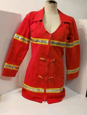 Firefox Costume Halloween (Red Fire Fox Firefighter Dress Up Halloween Sexy Adult Large Costume Stretches)