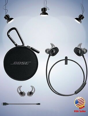 Bose SoundSport Wireless In-Ear Black Neckband Headphones for Android iPhone iOS